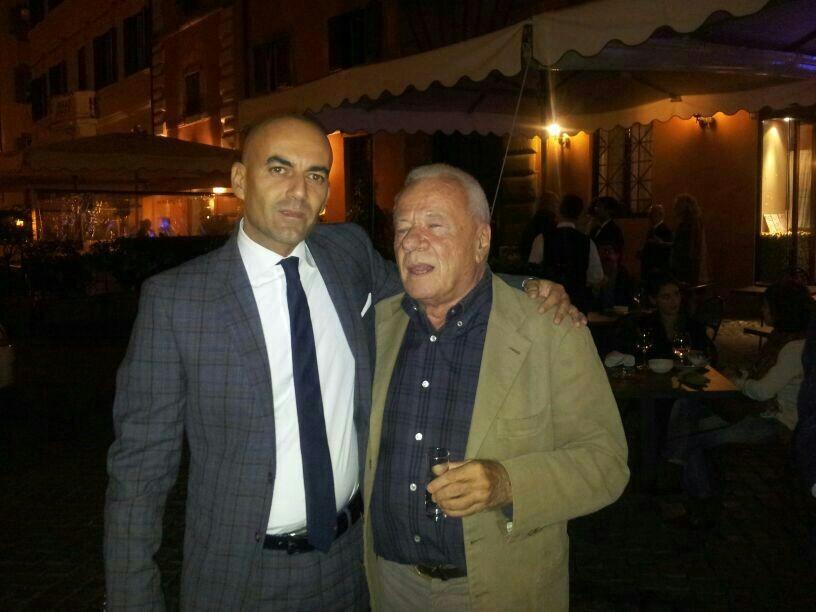 Danilo Gigante, presidente di International Broker Art e Achille Bonito Oliva
