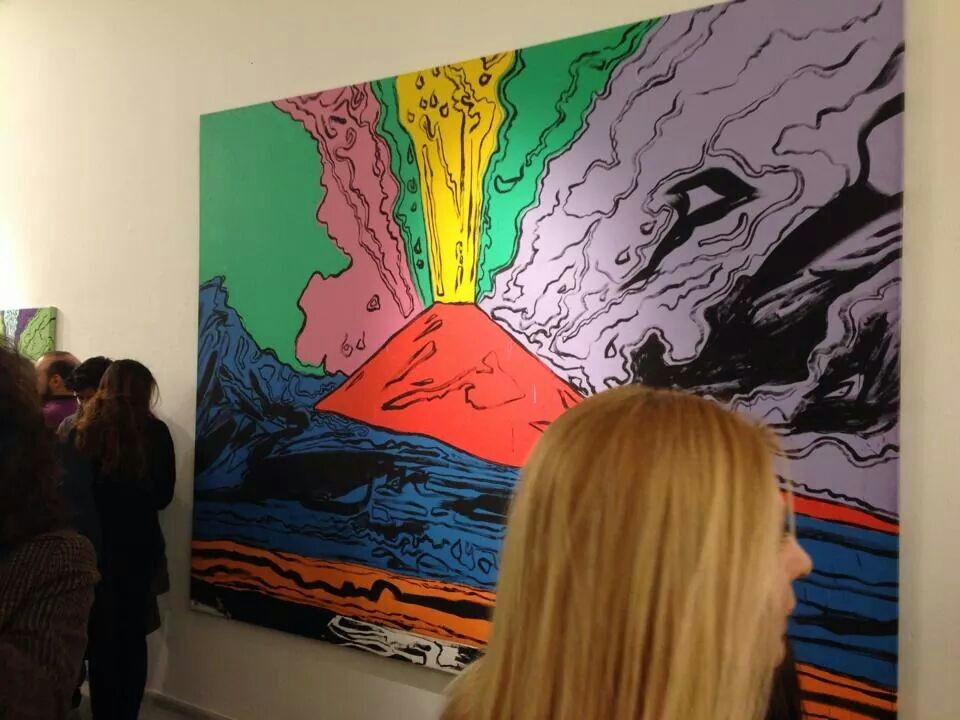 'Il Vesuvio' di Andy Warhol. L'opera del grande artista dedicata a Napoli