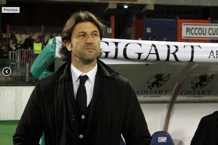 Danilo Gigante sostiene il Cagliari Calcio nel 2016